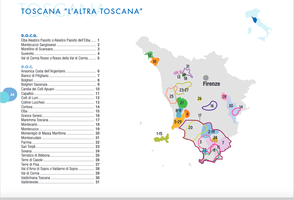 Other Tuscany wine regions