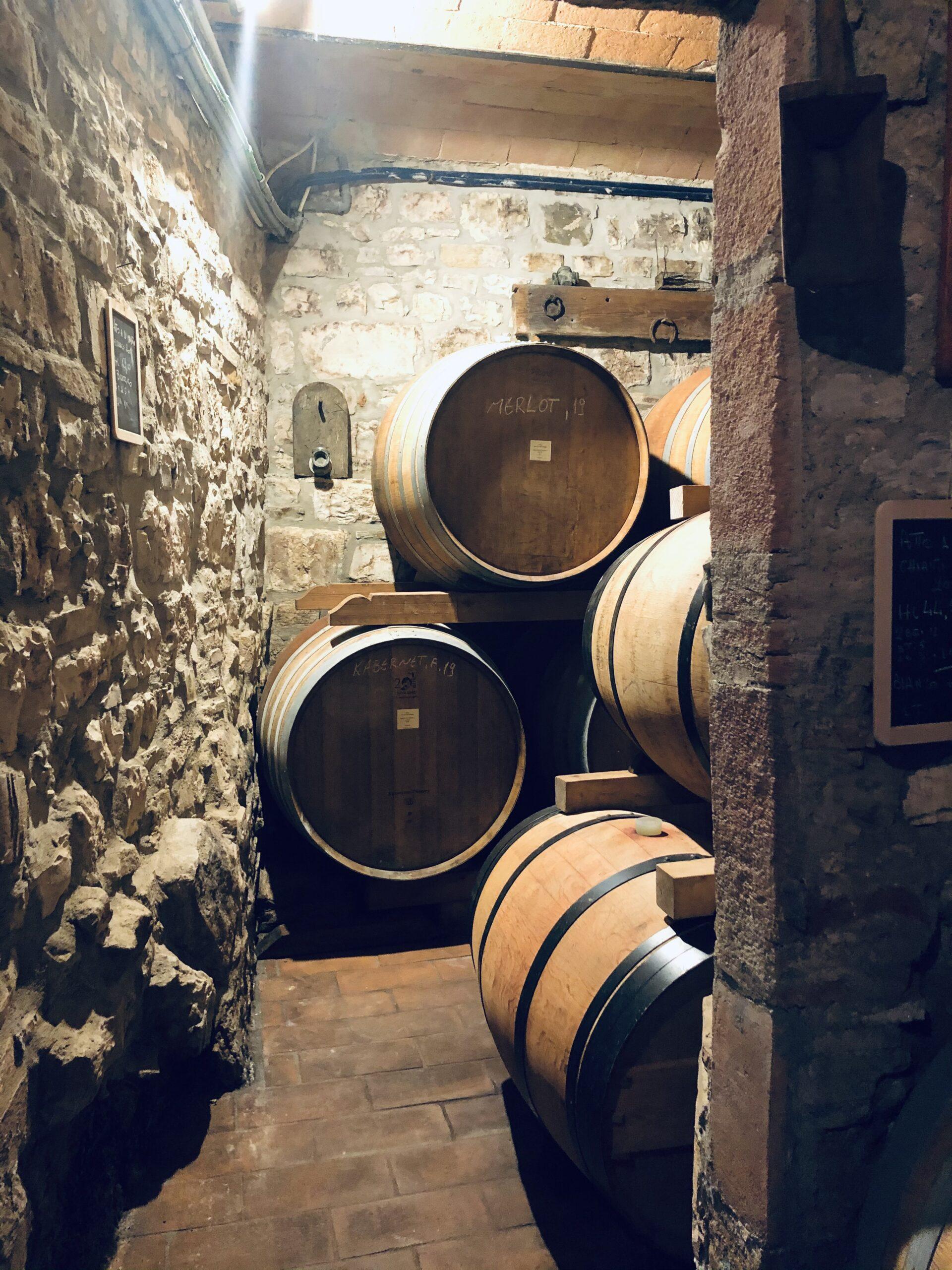 Oak barreals for wine making
