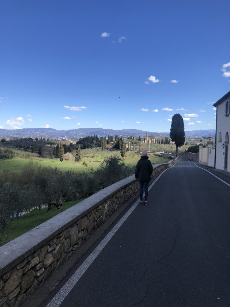 Heading back to La Certosa