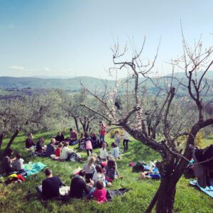 hiking florence lunch