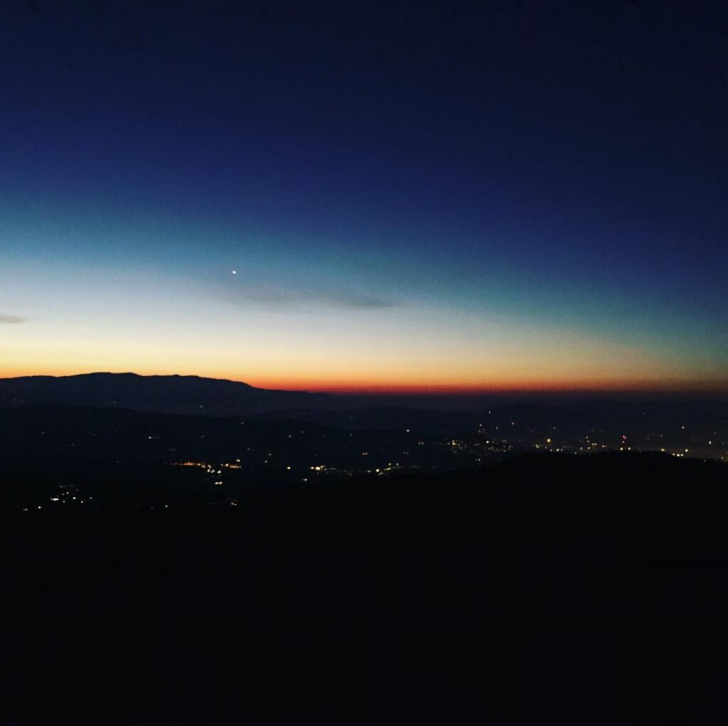 Sunrise From Monte Morello during the winter solstice
