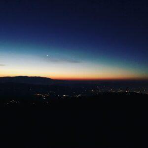 unique sunrise in Florence